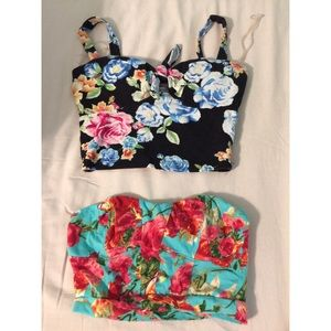 Two Casual Floral Bandeaus only $20